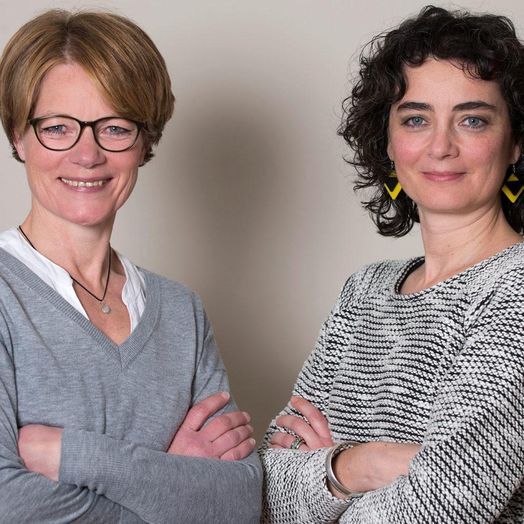 Die Gründerinnen der Perückenmacherei: Andrea Blick und Susanna Piccarreta