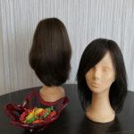 Perücke aus Echthaar bzw. Platinum Haar (Mix aus Echt- und Kunsthaar )