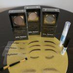 Augenbrauen aus Echthaar in verschiedensten Formen und Farben, semipermanentes Augenbrauen-Make-up mit Schablonen, Augenwimpern