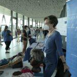 22. Schweizer Onkologiepflege Kongress Bern, 16.9.20. Unser Stand mit Perücken, Kopfbedeckungen und Make-up am 21. Onkologiepflege Kongress in Bern